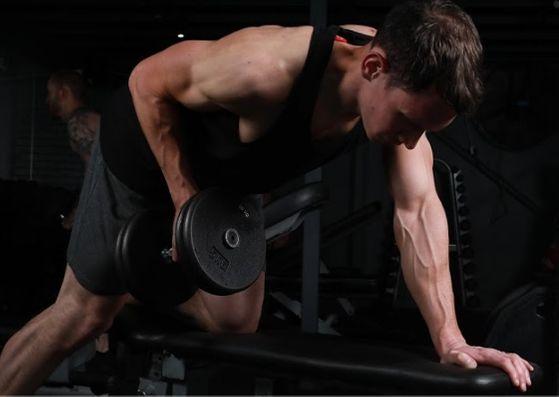 one arm row strength increase